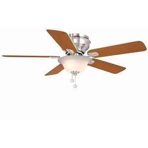 Hampton Bay Hawkins 44 in Flush Mount Ceiling Fan Light Kit Model 122 135 Quiet