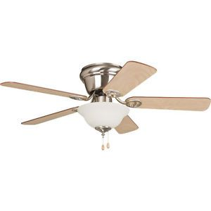 "Used Ellington WC42BNK5C1 Wyman Brushed Nickel Flush Mount 42"" Ceiling Fan w L"