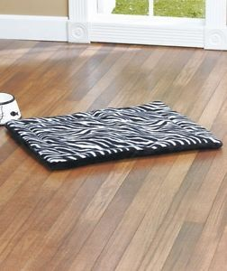 Small Zebra Animal Print Thermal Pet Dog Cat Bed Self Warming Cozy Reversible