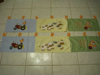 Lot Set 2 Farm Animals Kids Baby Nursery Valance Toddler Crib Bedding Barn Yard