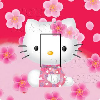 Hello Kitty Lightswitch Cover Sticker Girls Birthday Gift Baby Nursery Bedroom