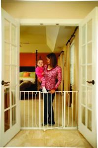 Regalo Easy Open Super Wide Baby Pet Child Safety Gate 52 inch 1185 Steel New