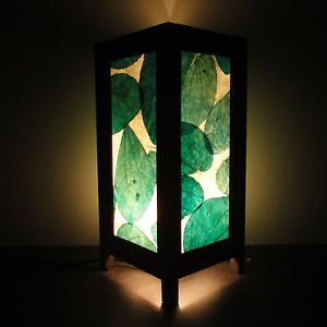 Asian Oriental Green Leaves Art Zen Home Decor Bedside Table Lamp Light Shades