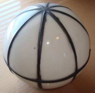 Antique Art Deco Milk Glass Round Globe Shade Lamp Chandeliers Vintage Lighting