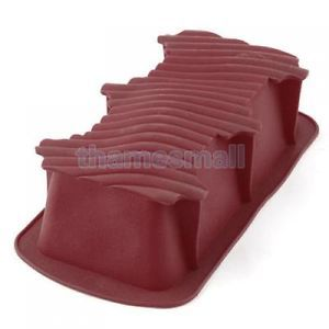 Random One Silicone Tube Loaf Cake Pan Baking Tray Mold Ice Cube Mould DIY Food