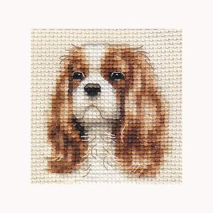 Cavalier King Charles Spaniel Dog Full Counted Cross Stitch Kit All Materials
