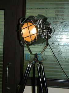 Designer Floor Lamp Spotlight Nautical Studio Tripod Floor Lamps Search Light