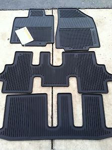 2013 2015 Nissan Pathfinder Black 4pc Rubber All Weather Floor Mats