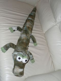 Children's Stuffed Plush Swamp Green Alligator Peek A Boo Toys 3 Feet Long