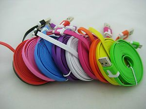 10ft 3M Long Flat Micro USB Charger Cable for Samsung Galaxy S2 S3 i9100 HTC LG