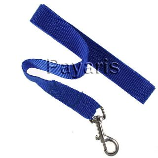 "New Blue Nylon Dog Leash 1"" inch Wide Small to Medium Pet Lead 5 ft Long"
