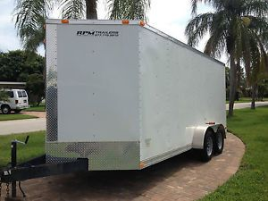 16 Foot Long Nose Dual Axel Cargo Trailer with Electric Brakes Less Than 1 000MI