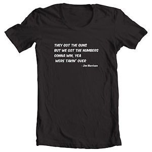 The Doors Jim Morrison Lizard King 5 to 1 Quote Shirt