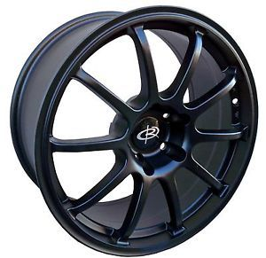 17 Rota G Force Black Rims Wheels 17x7 5 48 5x100 Subaru WRX Impreza Legacy STI