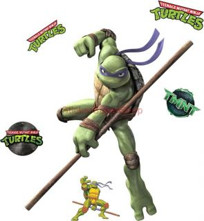 Choose Size Donatello Ninja Turtles Decal Removable Wall Sticker Art Home Decor