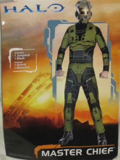 New Halo Master Chief Adult Size Costume Jumpsuit Mask