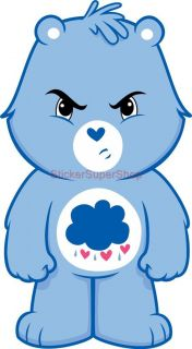 Grumpy Bear Care Bears Decal Removable Wall Sticker Home Decor Art Kids Bedroom