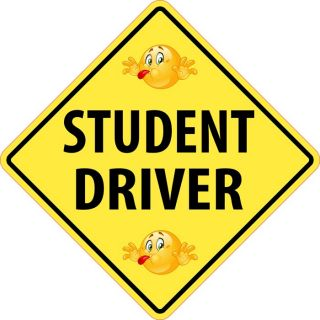 Student Driver Safety Sign Car Removable Wall Sticker Decal Room Car Decor