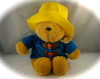 Vintage Talking Paddington Bear  Kids Gifts Raincoat Yellow Hat Soft Plush