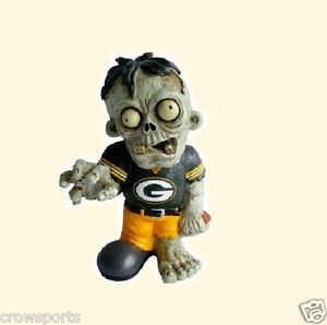 Green Bay Packers Zombie Garden Gnome Resin Statue Gift NFL New