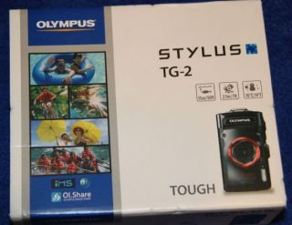 Olympus Tough Series TG 2 IHS 12 Megapixel Digital Camera Black Brand New