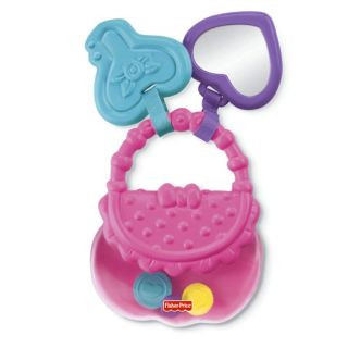 New Fisher Price Brilliant Basics Baby's First Purse Baby Girl's Fun Toys Gift