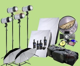 1200W Studio Strobe Flash Lighting Kit 4X 300W Light Photography Softbox OS1