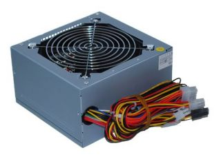 Rhycom 550 Watt ATX 120mm Fan Power Supply SATA 24 Pin