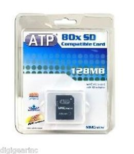 New 128MB MMC Micro Memory Card w SD Adapter for Kodak