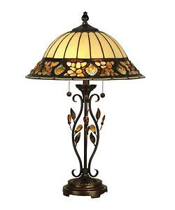 Dale Tiffany TT90172 Pebblestone Table Lamp with Antique Sand Art Glass Shade
