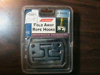 Sta Tyte Fold Away Rope Hooks 2 Pack Ford Chevy Jeep Dodge Universal Compatible
