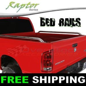 97 Current F150 250 350 8ft Long Bed Raptor Stainless Steel Truck Bed Side Rails