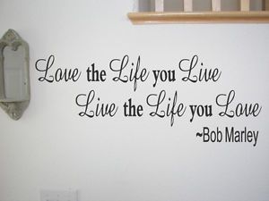 Vinyl Wall Art Decoration Inspirational Bob Marley Wall Quote Home Decor Decal