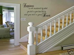 Happiness Home Bedroom Decor Vinyl Wall Art Decal