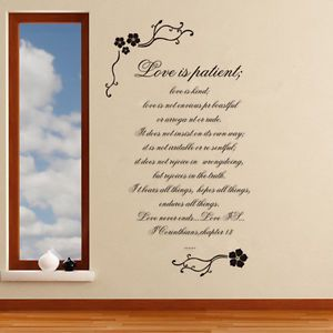 Quotes Love Removable Vinyl Wall Mural Art Sticker Decal Decor for Home Room