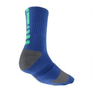 Nike Dri Fit Elite Crew Basketball Socks Large Mens Royal Grey Green SX3693 430