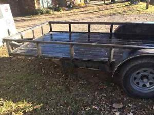 16ft Flat Bed Utility Trailer
