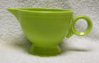 Homer Laughlin China Fiesta Vintage Chartreuse Color Ring Handled Creamer
