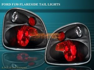 97 00 Ford F150 F 150 Flareside Tail Lights Black 98 99