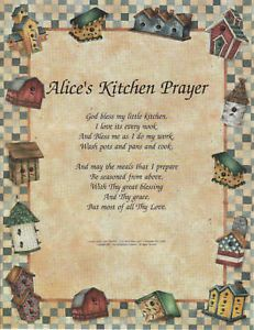 Kitchen Prayer Poem Personalized Birdhouse