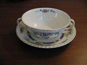 Johnson Bros Old English Eastbourne Cream Soup Cup Bowl w Saucer 10 Avail