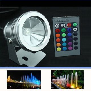 Waterproof 10W RGB Color Changing Outdoor Remote Control LED Flood Light 12V New
