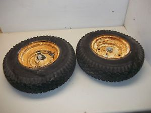 1962 Wheel Horse Lawn Ranger Garden Tractor Part Rear Wheels and Tires