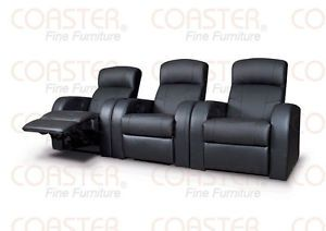 Movie Home Theater Seats Leather Recliners 6 Chairs 4 Wedges
