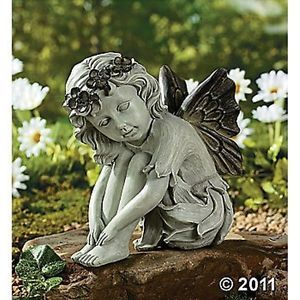 Angelic Angel Girl Fairy Garden Lawn Patio Yard Statue Sculpture Figurine New