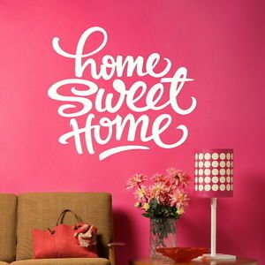 Giant Sweet Home Vinyl Wall Art Sticker Big Kitchen Decal Living Room Dining X31