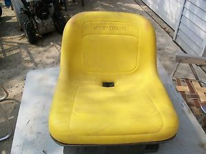 John Deere Riding Garden Tractor Lawn Mower Seat w Decal