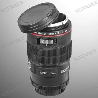 Camera Lens Coffee Tea Mug Cup 100mm Stainless Steel Interior Pen Holder DC254B