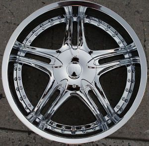 "Bigg Assett 516 22"" Chrome Rims Wheels Lincoln Continental Ford 22 x 8 5 5H 35"