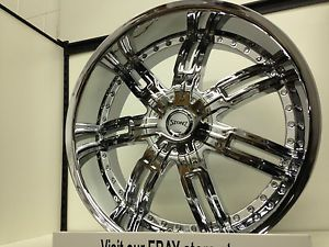 24 inch Chrome Stonz Wheels Rims GMC Sierra Yukon Denali XL 6 Lug 6x5 5 24""